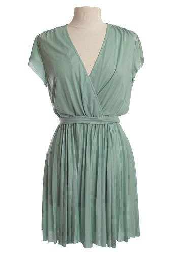 Pleated Mint Mini