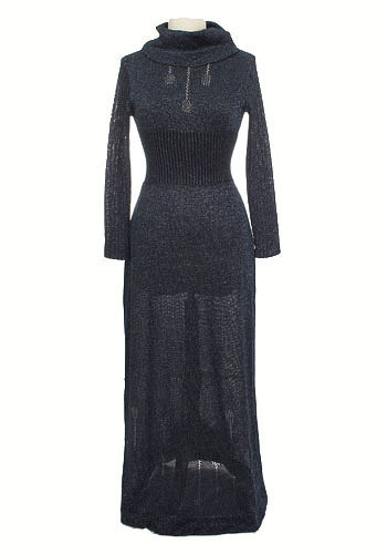 Vintage Midnight Knit Dress
