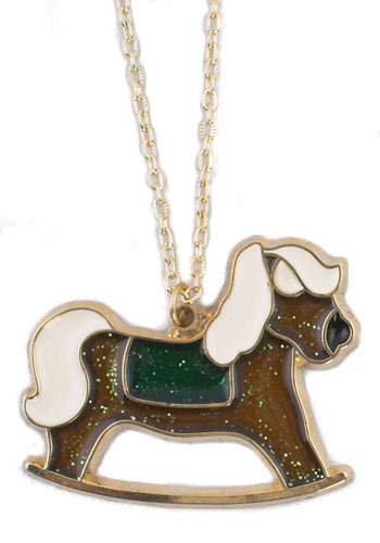 Vintage Rocking Horse Necklace