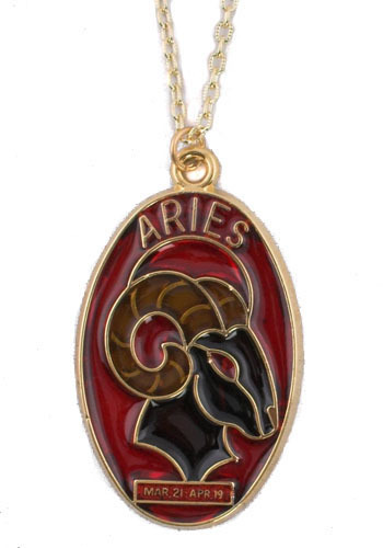 Vintage Aries Suncatcher Necklace