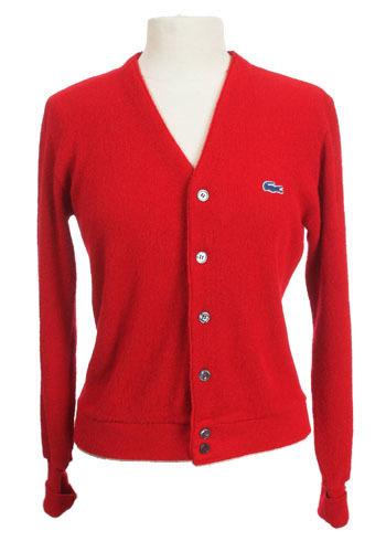 Vintage Red Izod Cardigan