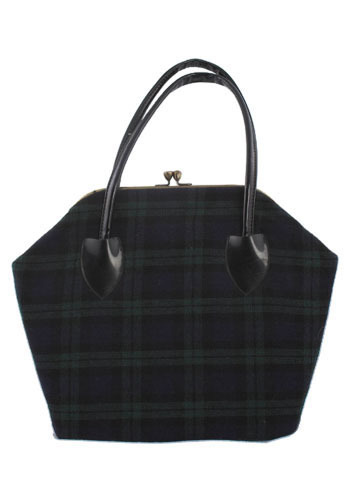 Vintage Pretty Plaid Handbag