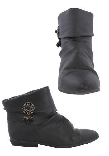 Vintage Amulet Ankle Boots