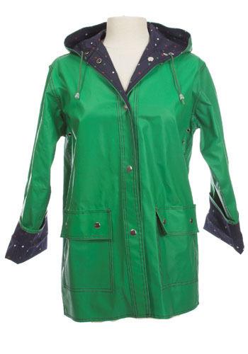 Vintage Heart Print Raincoat
