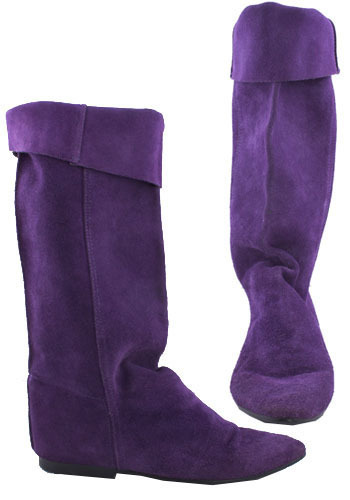 Vintage Purple Pirate Boots