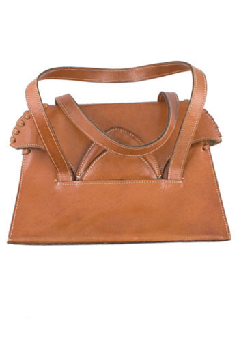 Vintage Leather Stitch Handbag