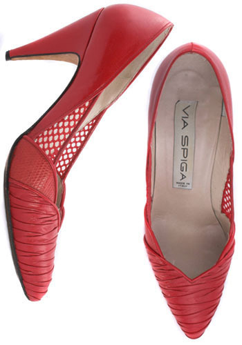 Vintage Red Alert Heels