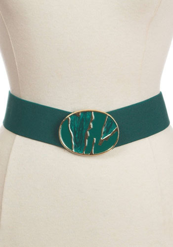 Vintage Emerald Stretch Belt