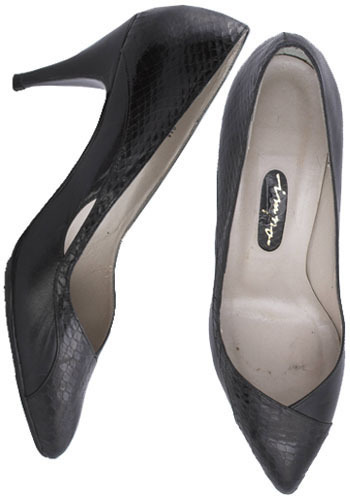 Vintage Back to Black Pumps