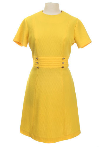 Vintage Lemon Zest Dress