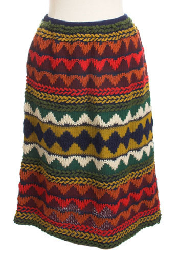 Vintage Ethnic Knit Skirt