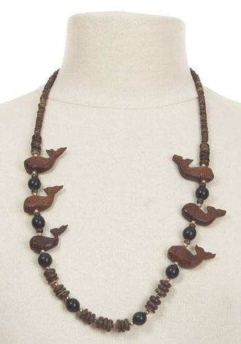 Vintage Fancy Whales Necklace
