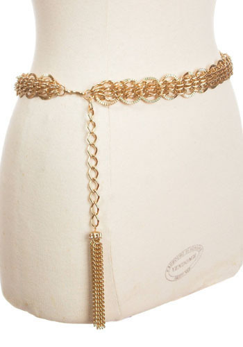 Vintage Disco Tassle Belt
