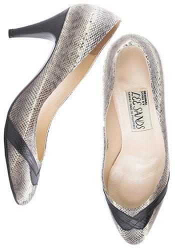 Vintage Tropical Snakeskin Heels