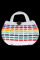Vintage Rainbow Wicker Purse