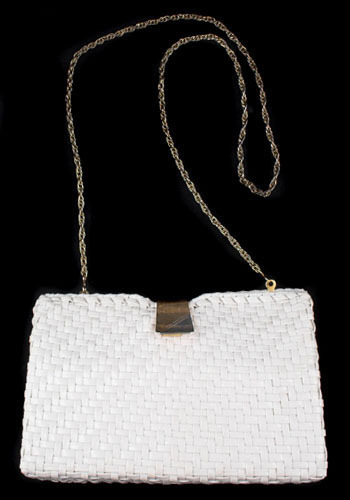 Vintage White Hot Woven Purse