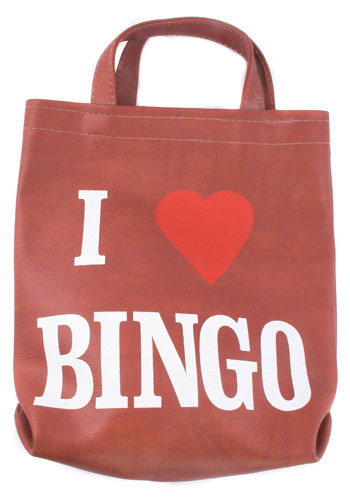 Vintage I Heart Bingo Tote