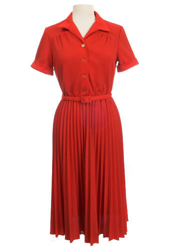 Really Red Vintage Dress