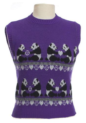 Vintage Purple Panda Vest