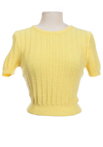 Vintage Sunshine Shrunken Sweater
