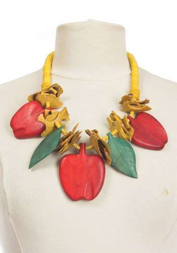 Vintage Apple a Day Necklace