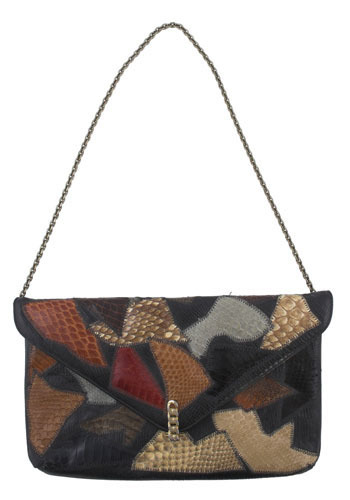 Vintage Patchwork and Chains Bag