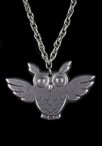 Owl in Flight Vintage Necklace