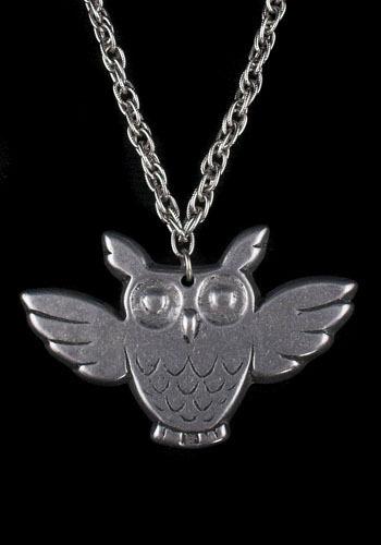 Owl in Flight Vintage Necklace
