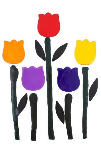 Bloemenmarkt Tulip Clings