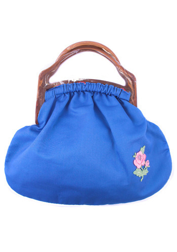 Vintage Blue Flower Handbag