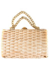 Wicker and Chain Bag