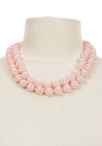 Vintage Pale Pink Necklace
