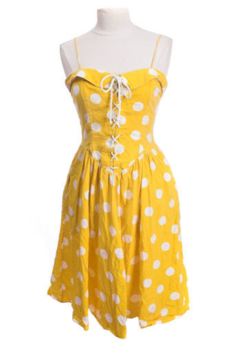 Yellow Polka Dot Dress
