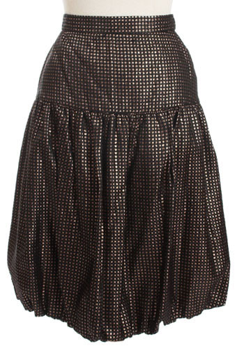 Vintage Bronzed Bubble Skirt