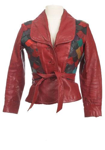 Vintage Textured Leather Jacket