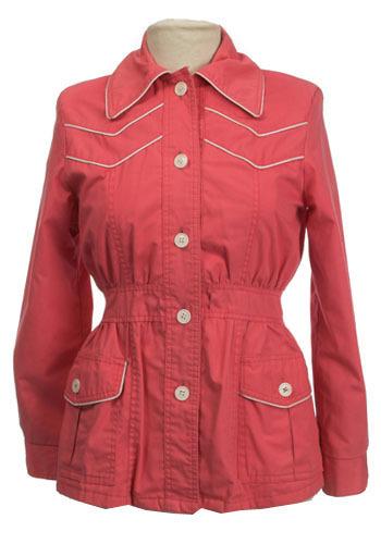Vintage Chevron Coral Jacket