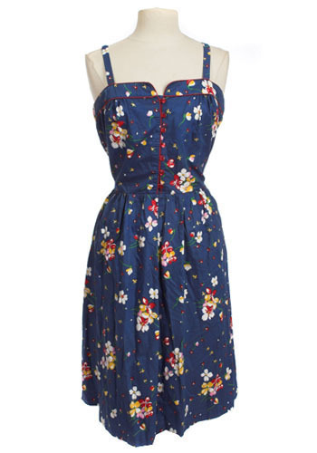 Navy Floral Sundress