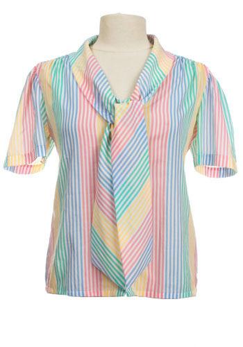 Vintage Pastel Tie Top