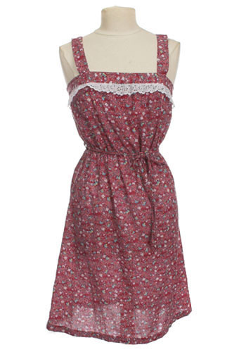 Vintage Cranberry Sundress