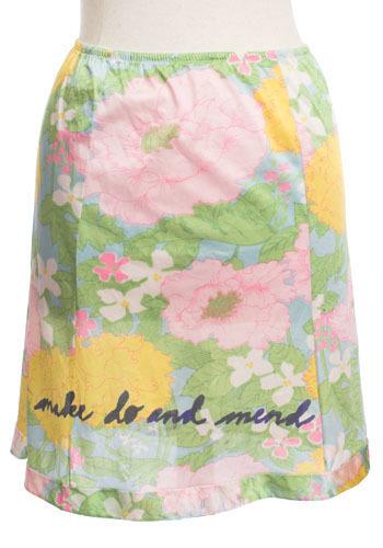 Vintage Floral Slip Skirt
