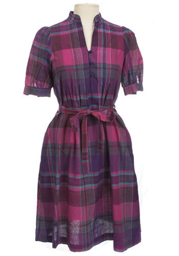 Plaid of Purple Dress