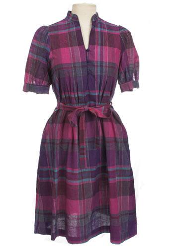 Plaid of Purple Dress