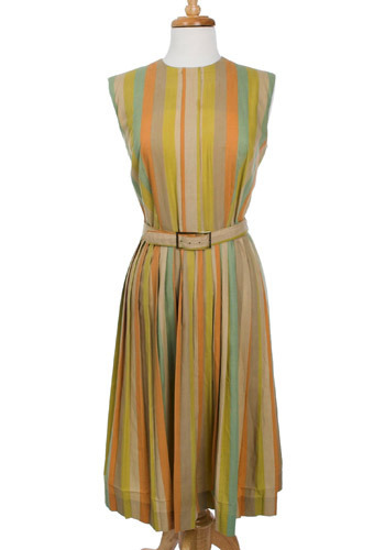 Mustard Stripe Vintage Dress