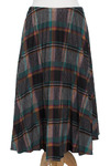 Plaid and Pleats Vintage Skirt