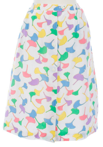 Vintage Ginkgo Leaf Skirt