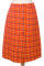 Red Check Vintage Skirt