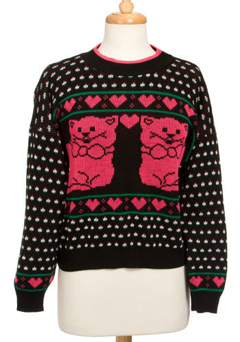 Kitty Squared Vintage Sweater