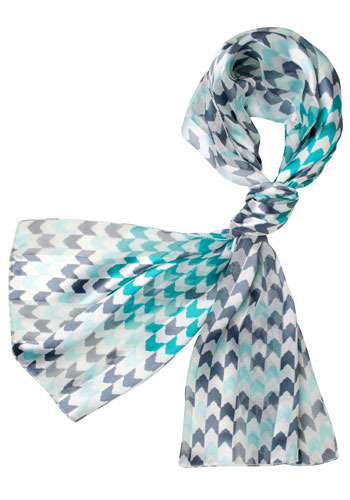 Teal Crescent Scarf
