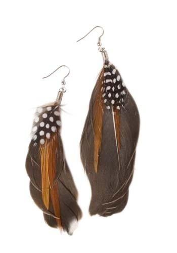 Speckled Thrush Earrings