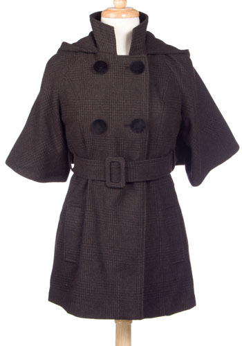 Little Plaid Riding Hood Coat by BB Dakota - Mid-length